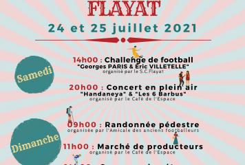 Fête patronale Flayat 2021